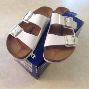 BIRKENSTOCK ARIZONA BS BIRKO-FLOR WHITE SANDALS 40